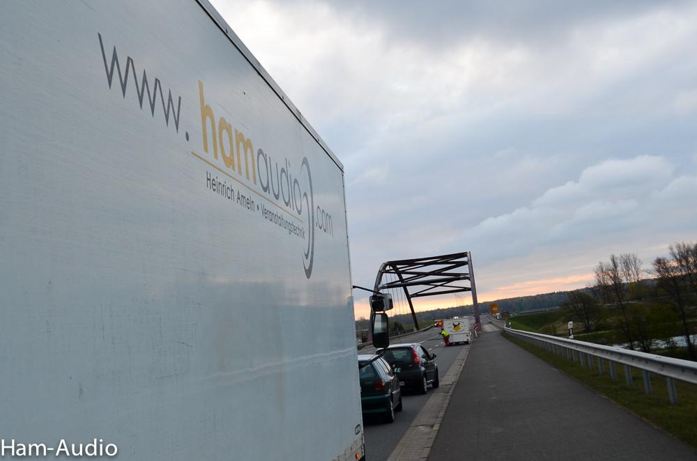 Unser LKW von Ham Audio GmbH nach der Entladung