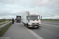 Veranstaltung in Salzgitter gegen Atommüll bei der Ankunft