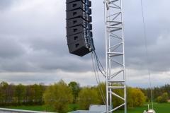Tiptower bestückt mit je 12 Elementen Galeo von Seeburg Acoustic Line